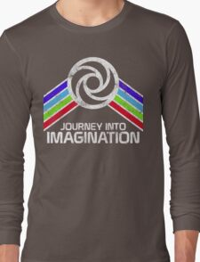 Journey Into Imagination Distressed Logo in Vintage Retro Style Long Sleeve T-Shirt