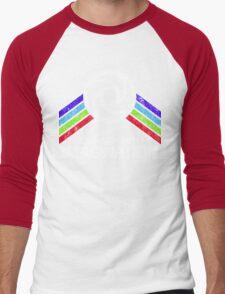 Journey Into Imagination Distressed Logo in Vintage Retro Style Men's Baseball ¾ T-Shirt