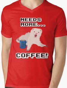 Ferret Needs More Coffee! Mens V-Neck T-Shirt