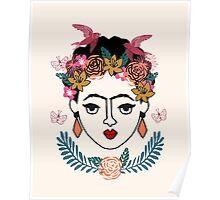 Frida Kahlo kids illustration line drawing andrea lauren  Poster