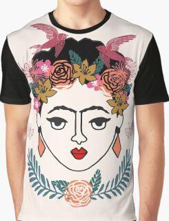Frida Kahlo kids illustration line drawing andrea lauren  Graphic T-Shirt