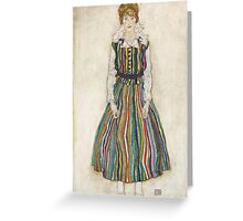 Egon Schiele - Portrait of Edith the artist's wife 1915 Woman Portrait Greeting Card