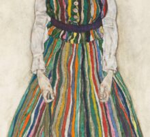 Egon Schiele - Portrait of Edith the artist's wife 1915 Woman Portrait Sticker