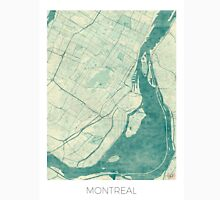 Montreal Map Blue Vintage Unisex T-Shirt