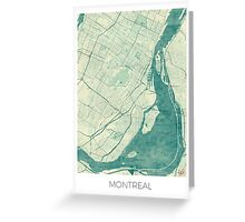 Montreal Map Blue Vintage Greeting Card