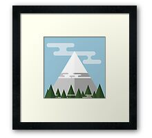 Flat Mountains  Framed Print