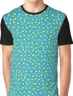 Yellow Polka Dot Graphic T-Shirt