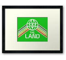 The Land Logo Distressed in Vintage Retro Style Framed Print