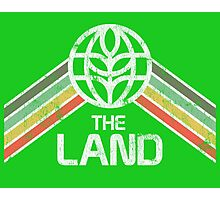 The Land Logo from EPCOT Center in Vintage Distressed Style Photographic Print