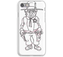 Sheriff B&W iPhone Case/Skin