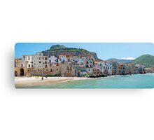 Italy - Waterfront of Cefalu Canvas Print