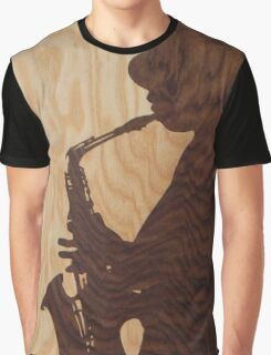 White jazz mood marquetry picture Graphic T-Shirt