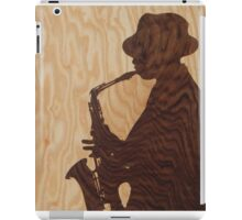 White jazz mood marquetry picture iPad Case/Skin