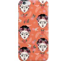 Frida Kahlo hand drawn kids children illustration pattern print design andrea lauren  iPhone Case/Skin