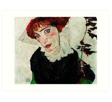 Egon Schiele - Portrait of Wally Neuzil 1912 Art Print