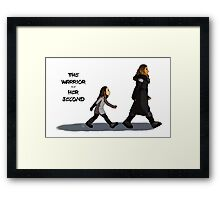 Walk the Walk - The Warrior and Her Second Framed Print