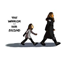 Walk the Walk - The Warrior and Her Second Photographic Print