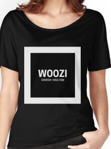 Seventeen Woozi (Black BG) Women's Relaxed Fit T-Shirt