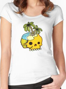 Dead Island Tattoo Flash Women's Fitted Scoop T-Shirt