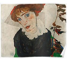Egon Schiele - Portrait of Wally Neuzil 1912  Poster