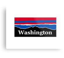 Washington Red White and Blue Metal Print
