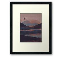 Adrift in the Mountains... Framed Print
