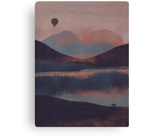 Adrift in the Mountains... Canvas Print
