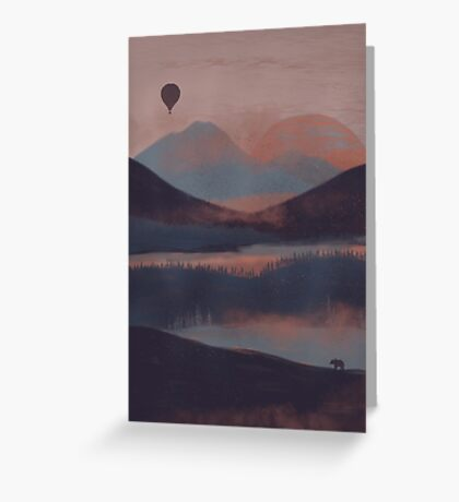 Adrift in the Mountains... Greeting Card
