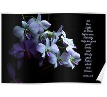 Let Your Light So Shine Floral Scripture Art Poster