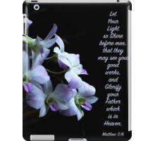 Let Your Light So Shine Floral Scripture Art iPad Case/Skin