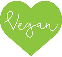 Vegan Heart - Cursive Photographic Print