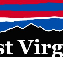 West Virginia Red White and Blue Sticker