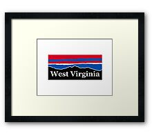 West Virginia Red White and Blue Framed Print