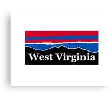 West Virginia Red White and Blue Canvas Print