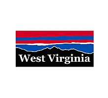 West Virginia Red White and Blue Photographic Print