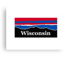 Wisconsin Red White and Blue Canvas Print
