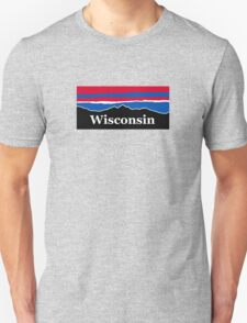 Wisconsin Red White and Blue Unisex T-Shirt