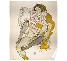 Egon Schiele - Seated Couple, 1915 1915 Poster