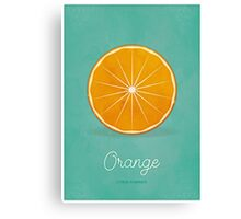 Orange (lucite green) - Natural History Fruits Canvas Print