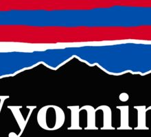Wyoming Red Whit and Blue Sticker