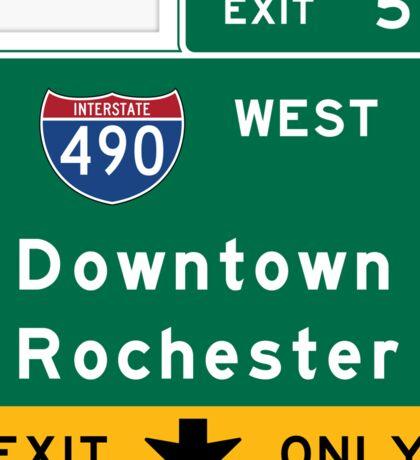 Rochester, Road Sign, New York Sticker