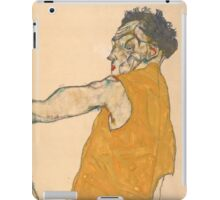 Egon Schiele - Self-Portrait in Yellow Vest, 1914   Expressionism  Portrait iPad Case/Skin