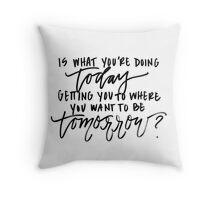 amanda watson workshop tote Throw Pillow