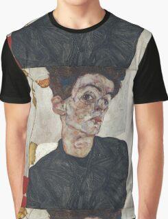 Egon Schiele - Self-Portrait with Chinese Lantern Plant 1912  Expressionism  Portrait Graphic T-Shirt