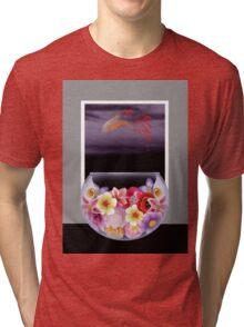 Floral Fish Bowl Tri-blend T-Shirt