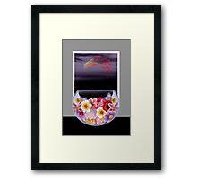 Floral Fish Bowl Framed Print