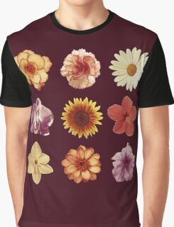 Floral Pattern Red Graphic T-Shirt
