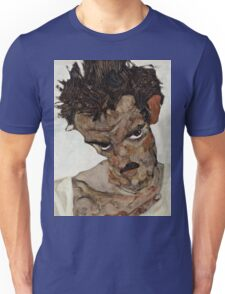 Egon Schiele - Self-Portrait with Lowered Head 1912  Expressionism  Portrait Unisex T-Shirt