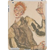Egon Schiele - Self-Portrait with Striped Armlets 1915  Expressionism  Portrait iPad Case/Skin