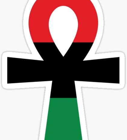 Red, Black & Green Ankh Sticker